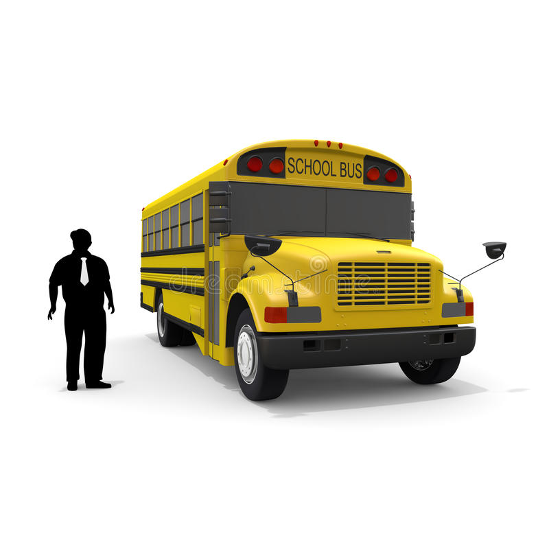 School bus / driver. Student of the morning. Landscape of school. Take advantage of the school bus. I fit in friends. Students run. I get on the bus vector illustration