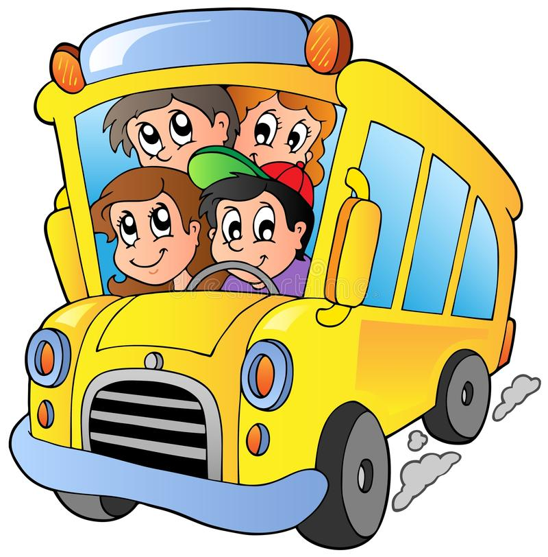 school bus with happy children stock vector illustration of rh dreamstime com Walking School Bus Clip Art Unique School Bus Clip Art