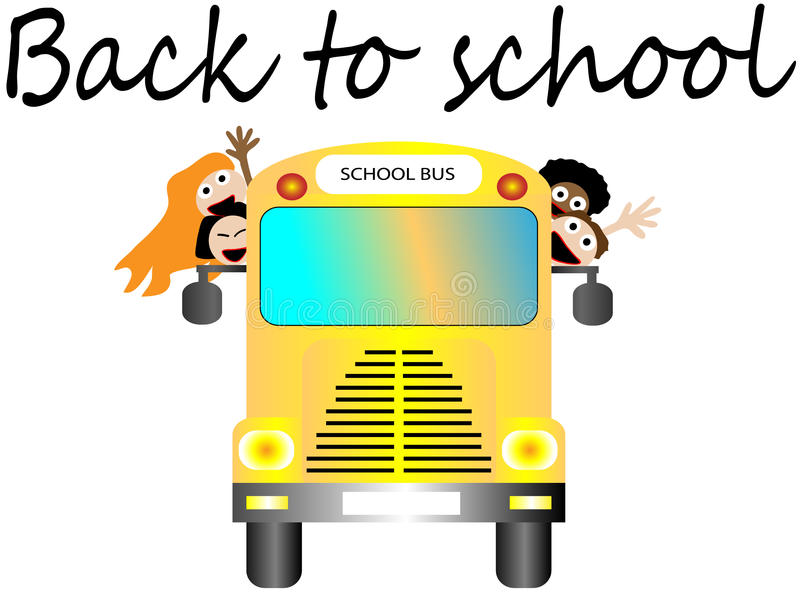 School Bus With Happy Children Back To School Royalty Free Stock Photo