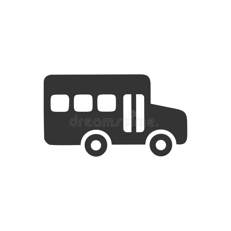 School Bus Icon. Beautiful, meticulously designed School Bus Icon. Perfect for use in designing and developing websites, printed materials and presentations stock illustration