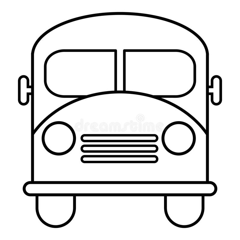 school bus icon outline line style stock vector illustration of rh dreamstime com