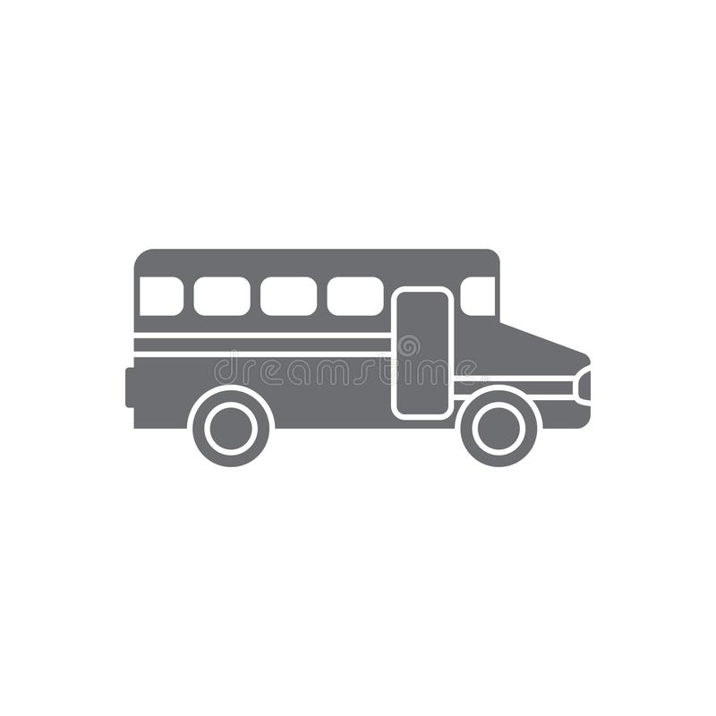 School bus icon. Simple element illustration. School bus symbol design from Transport collection set. Can be used for web and mobi. Le on white background royalty free illustration