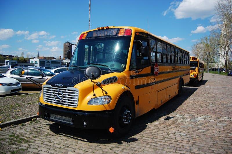 School Bus in Montreal stock images