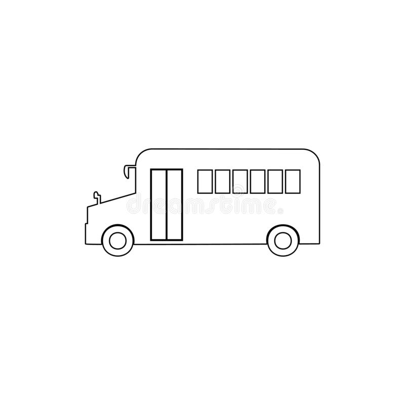 School bus outline icon. Element of car type icon. Premium quality graphic design icon. Signs and symbols collection icon for. Websites, web design, mobile app stock illustration