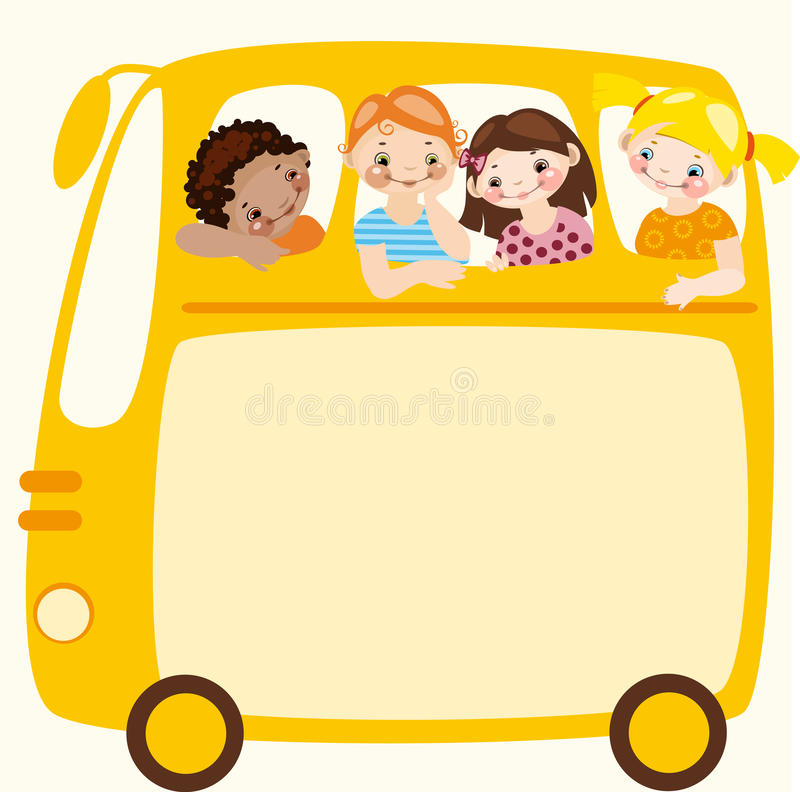 Download School Bus. Place For Your Text. Stock Vector - Image: 19465774