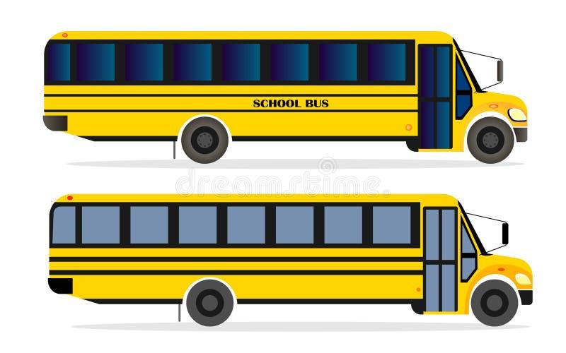 Orange Front Side Bus Stock Illustration Illustration Of