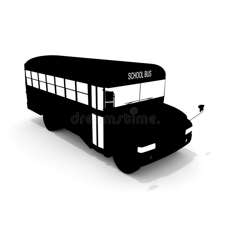 School bus. Silhouette. Convenient vehicle. I carry a student. I carry a lot vector illustration