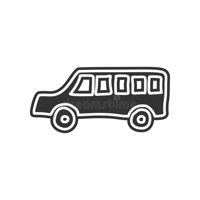 School bus sketch icon. Element of Education for mobile concept and web apps icon. Glyph, flat icon for website design and. Development, app development on stock illustration