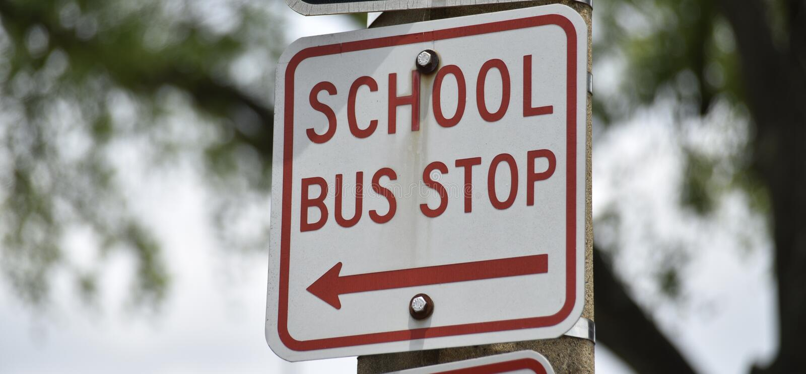 School Bus Stop. A school is an educational institution designed to provide learning spaces and learning environments for the teaching of students or `pupils` stock photos