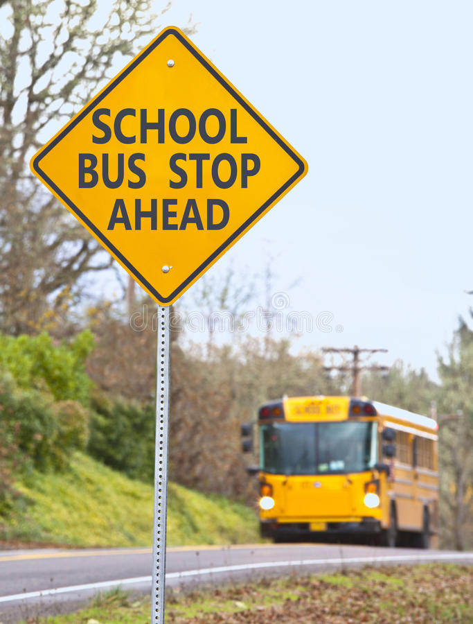 Download School bus stop sign stock image. Image of stop, sign - 22655977
