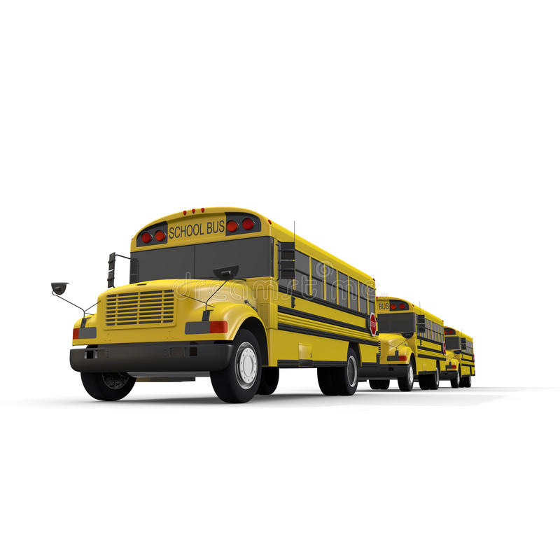 School bus. Student of the morning. Landscape of school. Take advantage of the school bus. I fit in friends. Students run. I get on the bus royalty free illustration