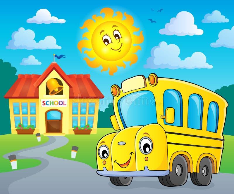 School bus thematics image 2. Eps10 vector illustration royalty free illustration
