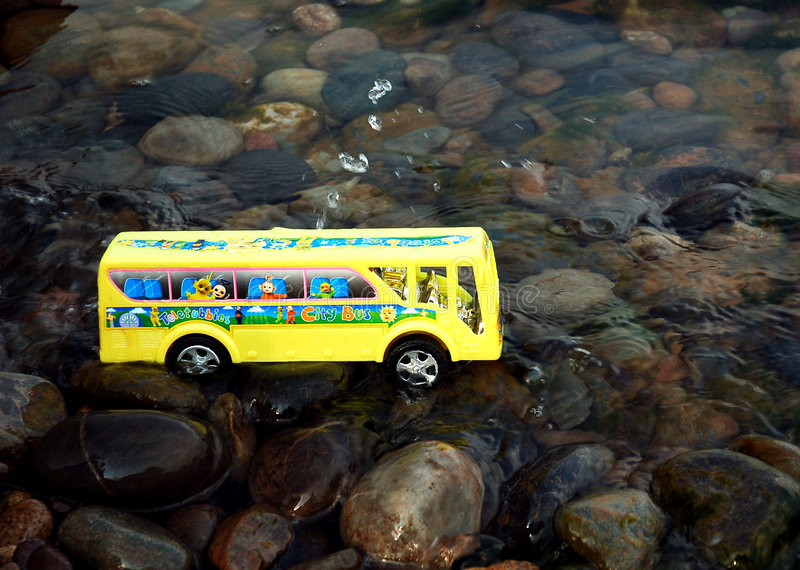 Download School bus in water stock photo. Image of asia, evening - 2006760
