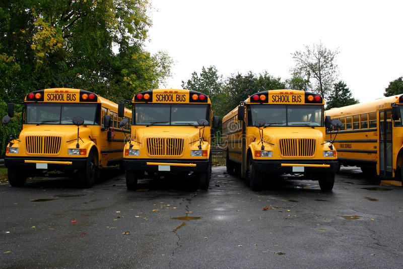 Download School Buses stock image. Image of students, parkingtlot - 287245