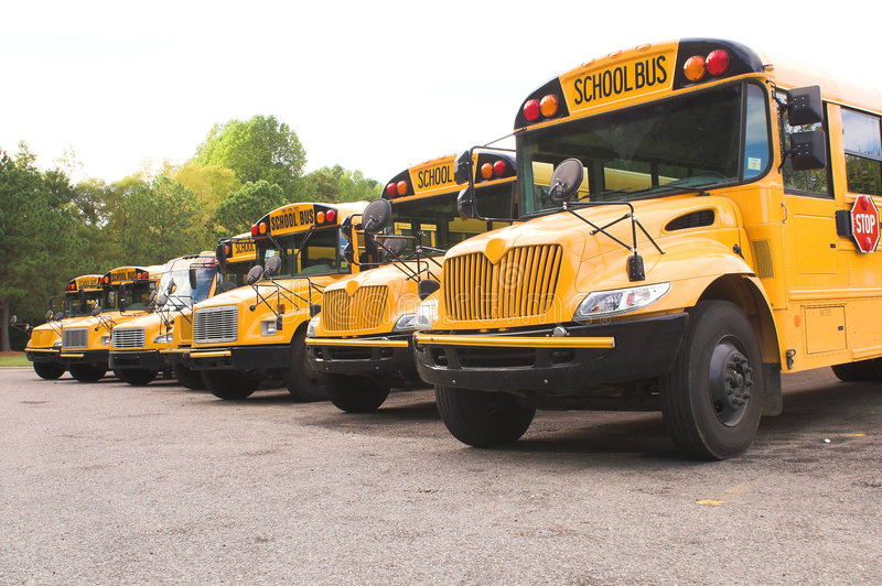 Download School Buses stock image. Image of stopped, pass, stop - 3444417