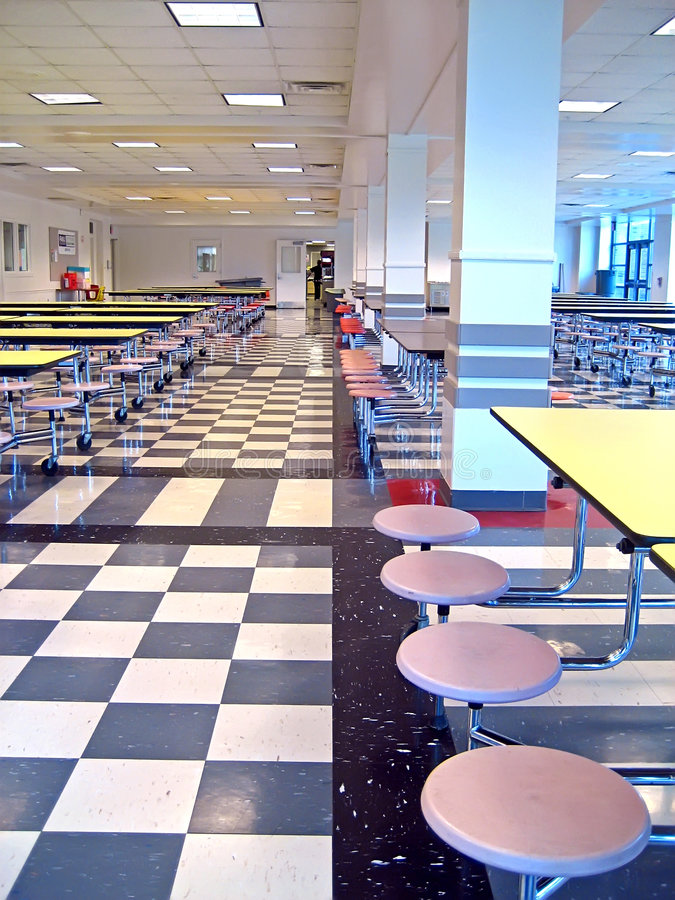 School Cafeteria royalty free stock photography