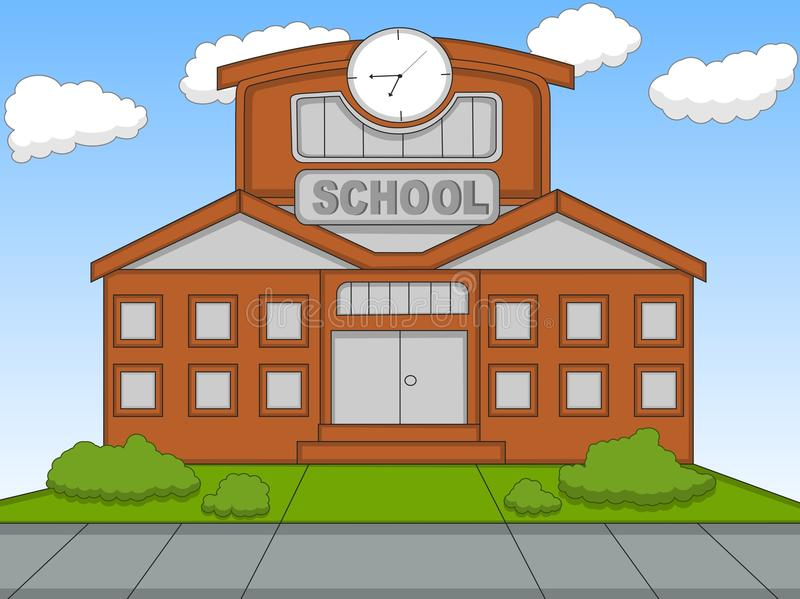 School cartoon vector illustration stock illustration