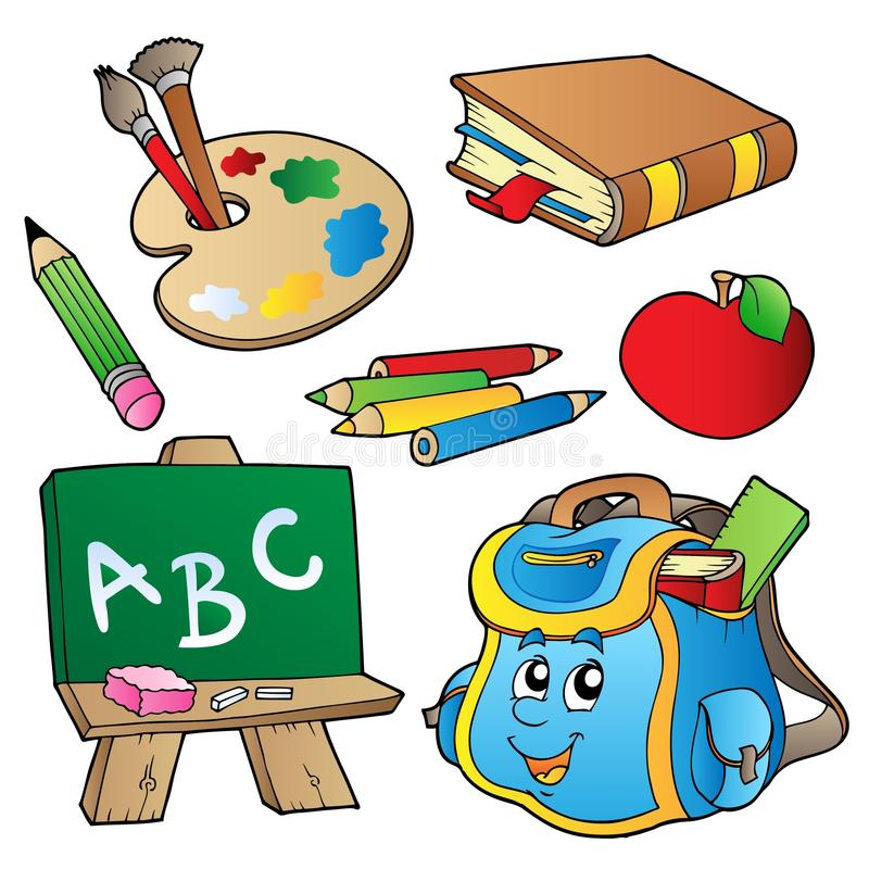 Download School cartoons collection stock vector. Image of collection - 16940808