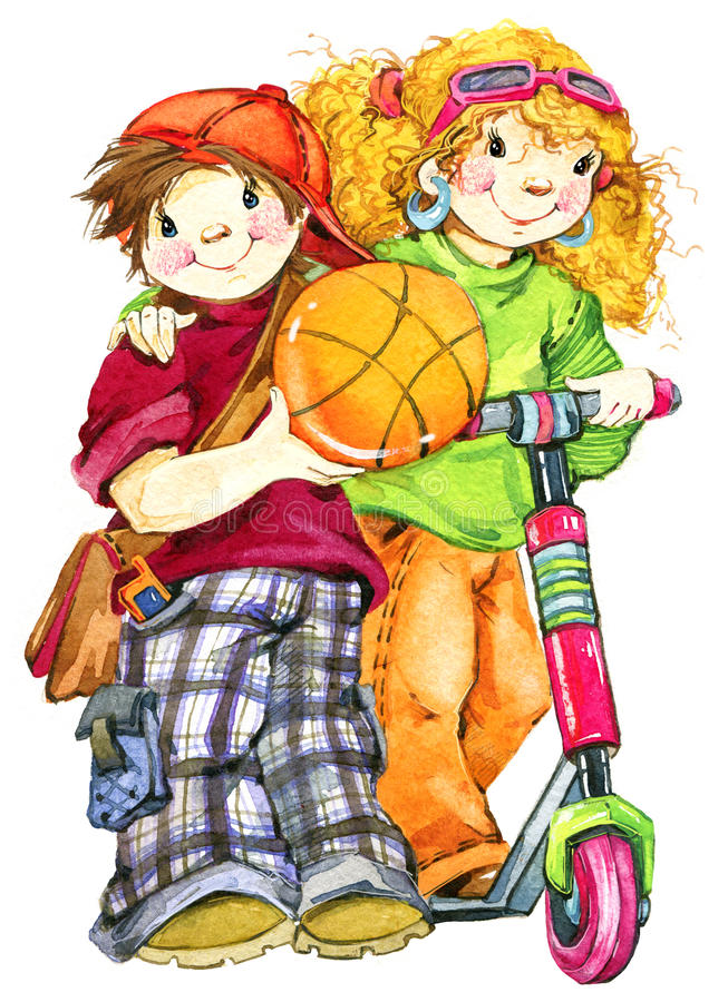 School children and Back to school background for celebration watercolor illustration stock illustration