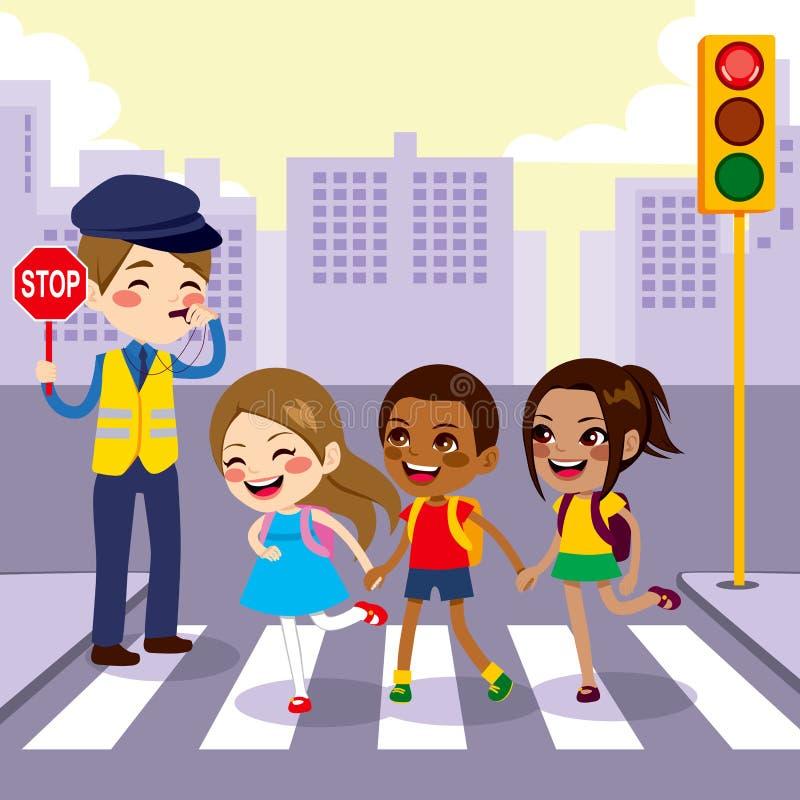 Free School Children Pedestrian Crossing Stock Photo - 41678340