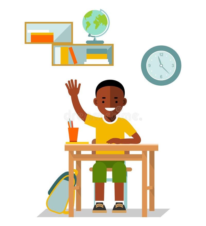School children pupil in flat style royalty free illustration