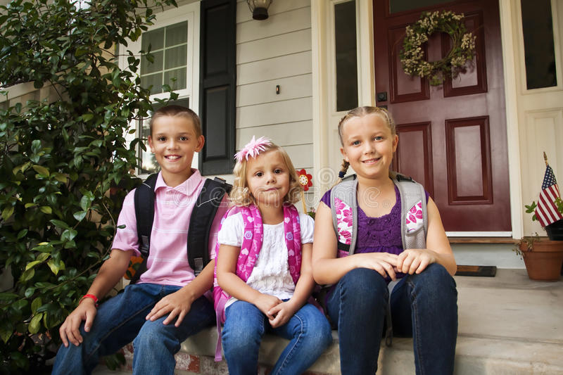 School Children Ready For School Royalty Free Stock Photography