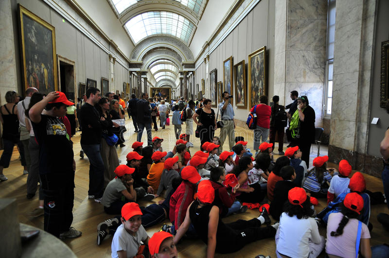 Download School Children With Red Beanies  At The Louvre Editorial Stock Image - Image: 13192474