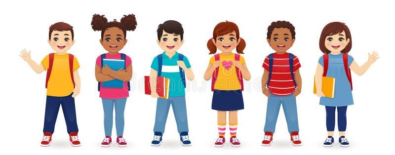 School children set royalty free illustration
