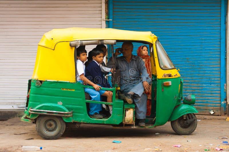 School Children Transportation Auto Rickshaw royalty free stock photography