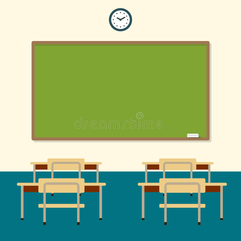 classroom table vector. download school classroom with chalkboard and desks. education board, table study. vector o