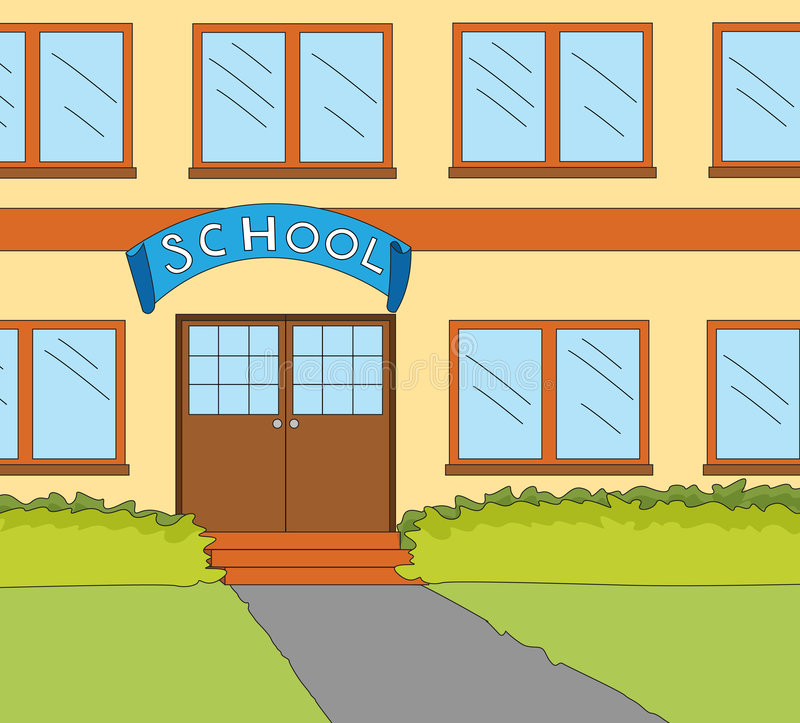 School classroom window vector illustration