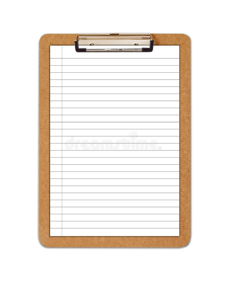 Download School Clipboard With Ruled Paper Royalty Free Stock Images - Image: 16609059