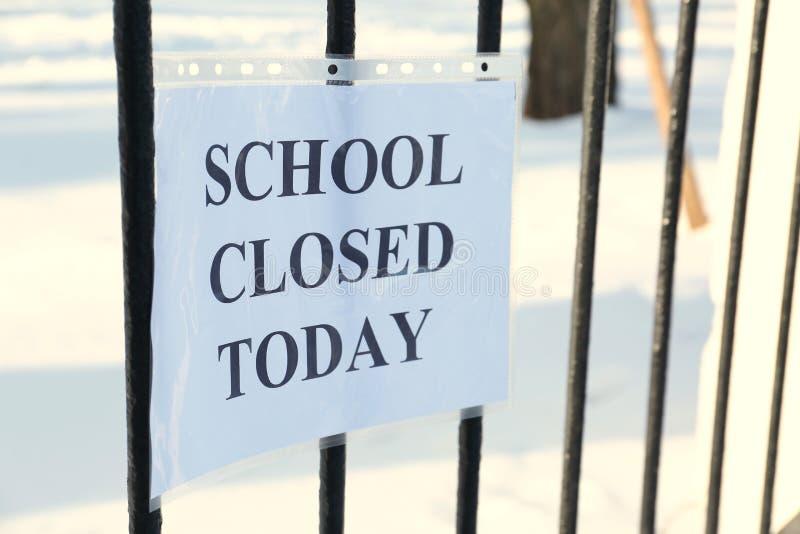School closed due. To heavy snowfall royalty free stock photography