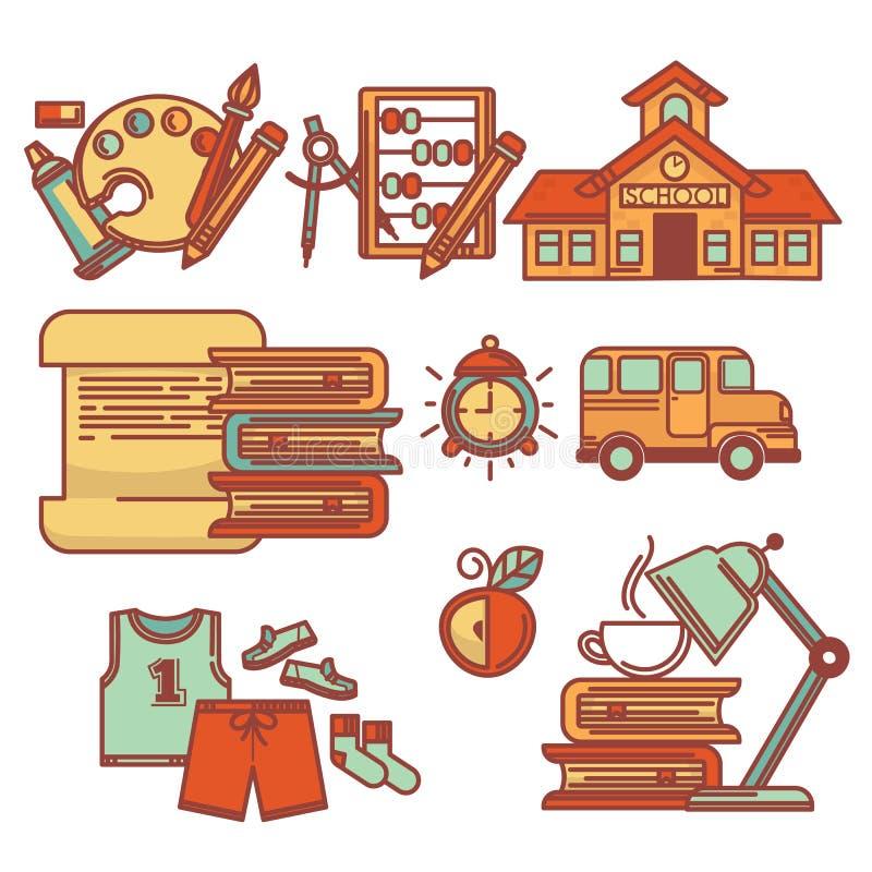 School collection stock illustration