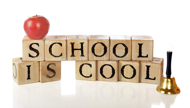 Download School Is Cool stock image. Image of wood, brown, words - 20706405