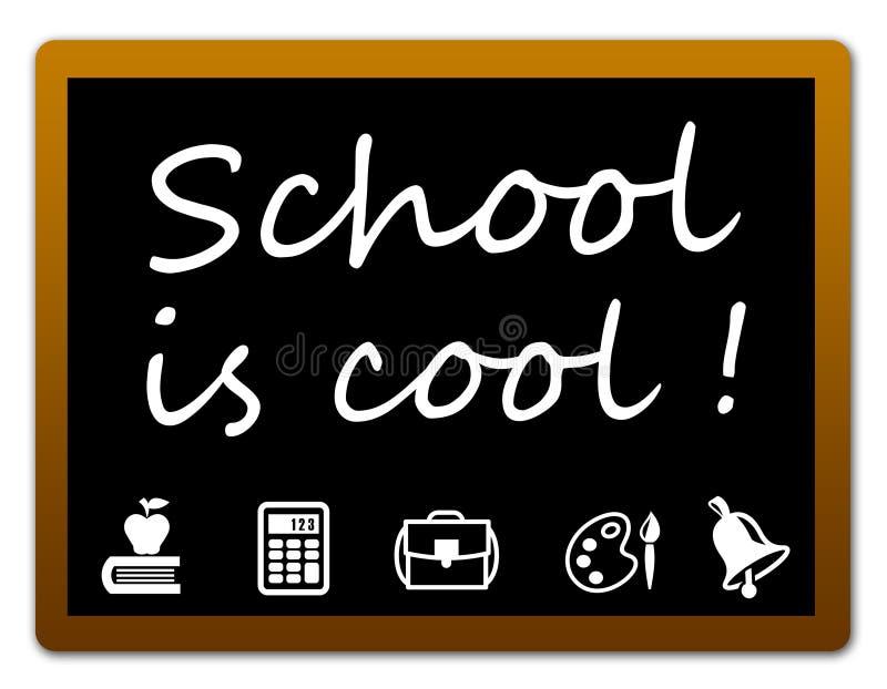 School is cool stock illustration