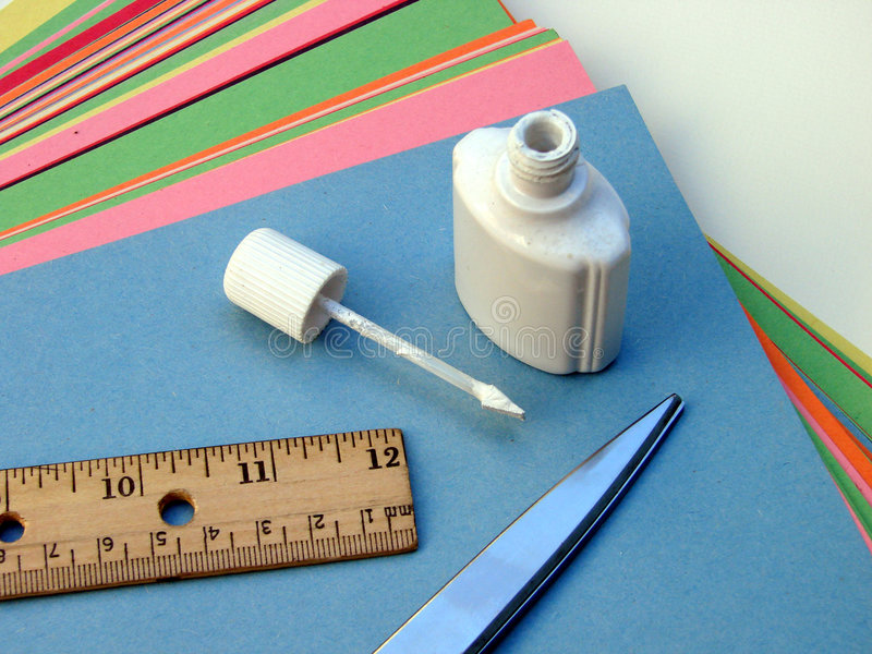 School and Craft Supplies stock photos