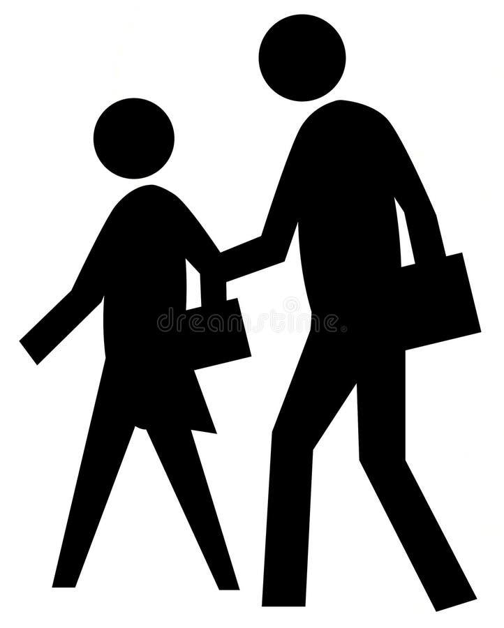 Download School Crossing 2 stock illustration. Image of figure - 5806569