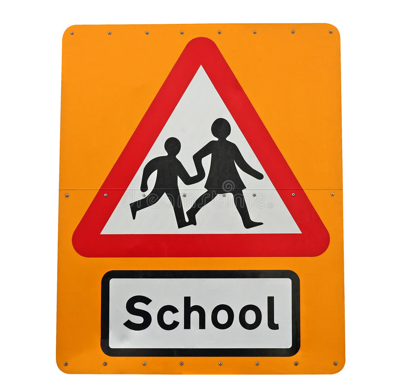 School crossing. royalty free stock photos