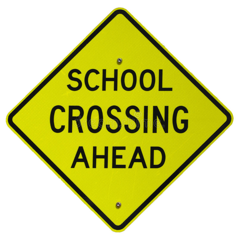 Download School Crossing Ahead stock photo. Image of signs, school - 17722322