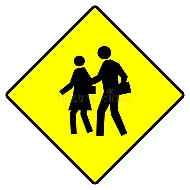 Download School crossing sign stock illustration. Image of safety - 9969091