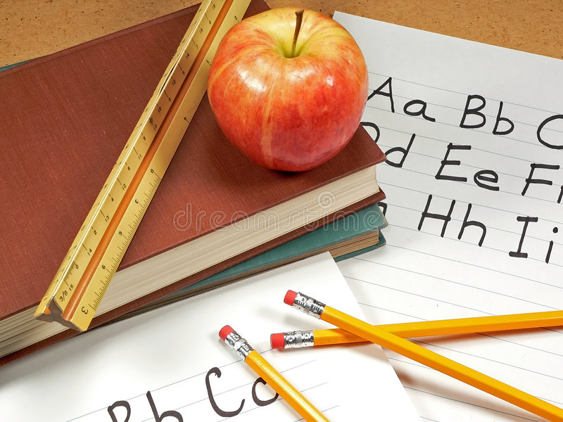 Download School Days stock image. Image of pencil, grade, apple - 1706609