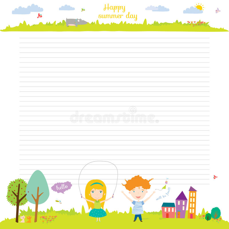 Cartoon Diary: School Design For Notebook, Diary, Organizers Stock Vector