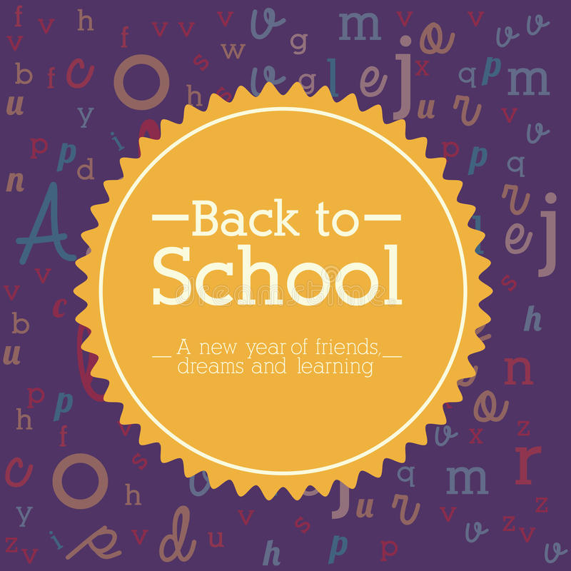 School design. Over purple background vector illustration stock illustration