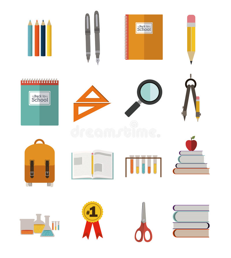 School design royalty free illustration