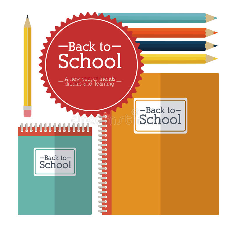 School design. Over white background vector illustration royalty free illustration