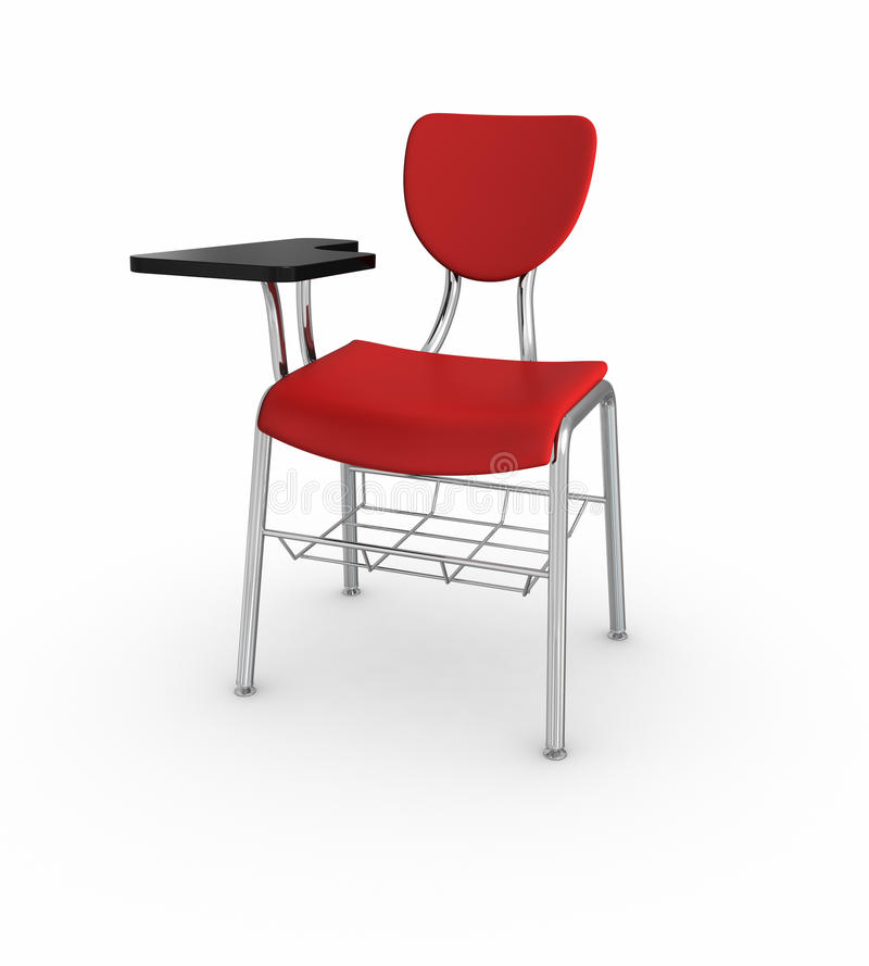 School Desk. 3d rendered image on white background: School Desk stock illustration