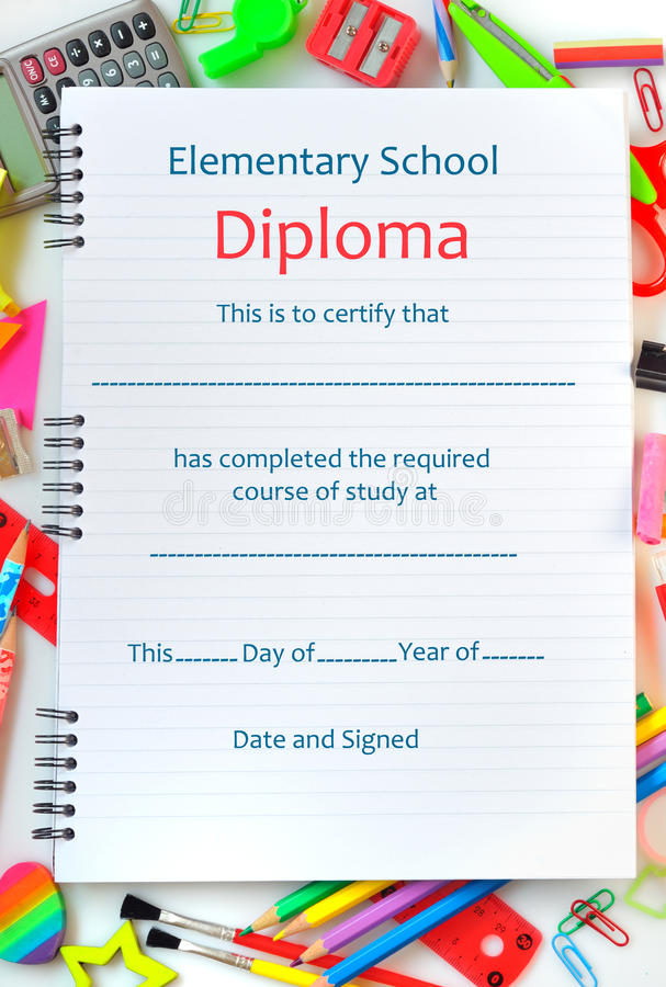 School Diploma Stock Images