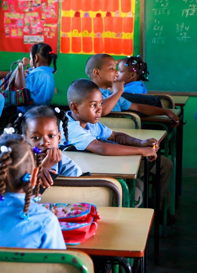 School in Dominicaanse Republiek royalty-vrije stock afbeelding