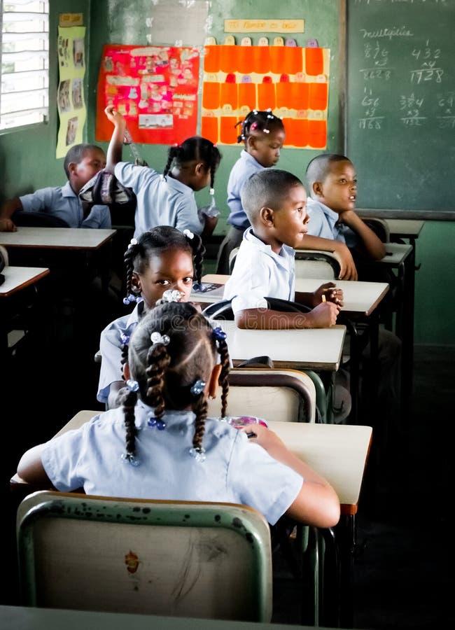 School in Dominicaanse Republiek royalty-vrije stock afbeeldingen